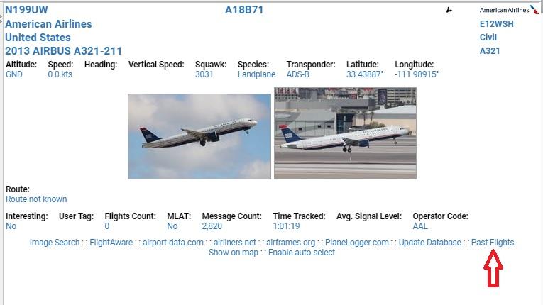 New Beta Feature – Past Flights – ADS-B Exchange